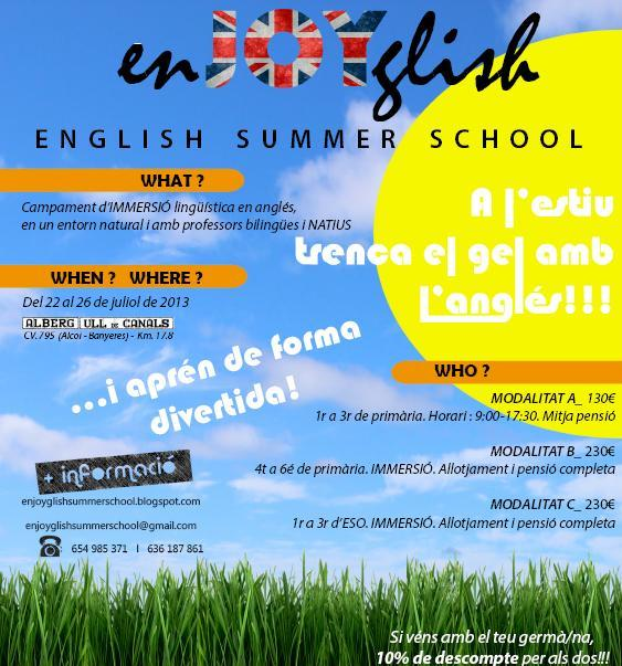 Cartel ingles 2013
